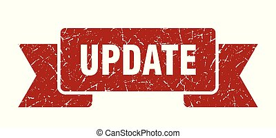 update grunge ribbon. update sign. update banner