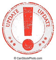 Update grunge rubber stamp on white