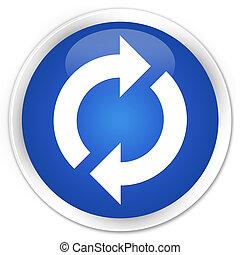 Update icon blue glossy round button