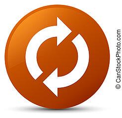 Update icon brown round button