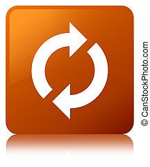 Update icon brown square button