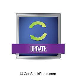 Update icon button illustration design