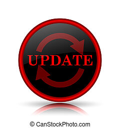 Update icon. Internet button on white background.