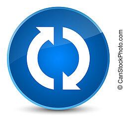 Update icon elegant blue round button