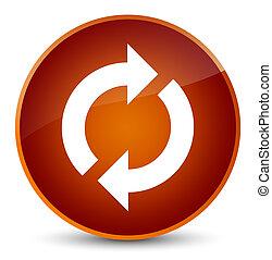 Update icon elegant brown round button