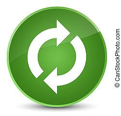 Update icon elegant soft green round button