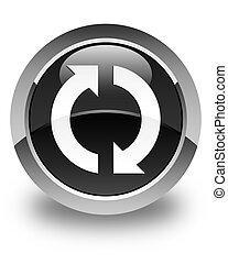Update icon glossy black round button
