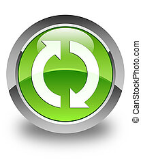 Update icon glossy green round button 2