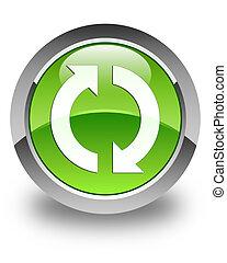 Update icon glossy green round button 2