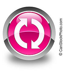 Update icon glossy pink round button