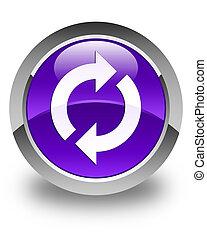 Update icon glossy purple round button