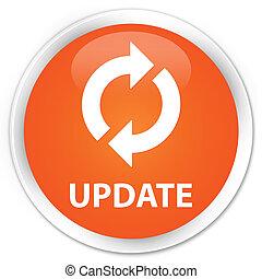 Update icon orange button - Update icon glossy orange round...