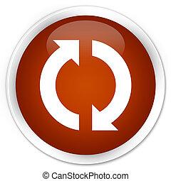 Update icon premium brown round button