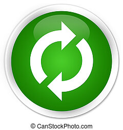 Update icon premium green round button
