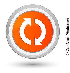 Update icon prime orange round button