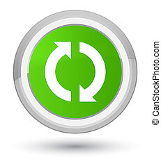Update icon prime soft green round button
