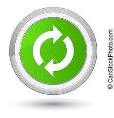 Update icon prime soft green round button