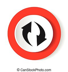 Update icon. Refresh or repeat symbol. Vector illustration