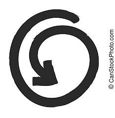 Update icon, refresh symbol, vector