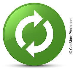 Update icon soft green round button