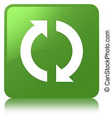 Update icon soft green square button