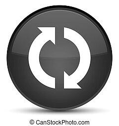 Update icon special black round button