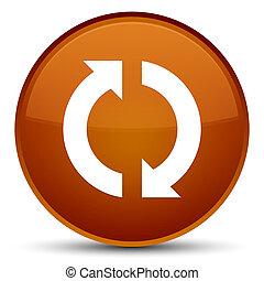 Update icon special brown round button