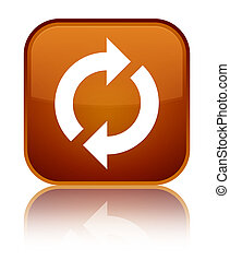 Update icon special brown square button