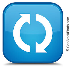 Update icon special cyan blue square button