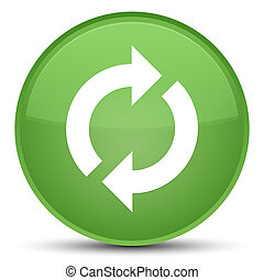 Update icon special soft green round button
