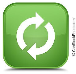 Update icon special soft green square button