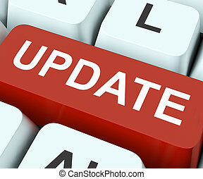 Update Key Means Revise Or Upgrade - Update Key On Keyboard...