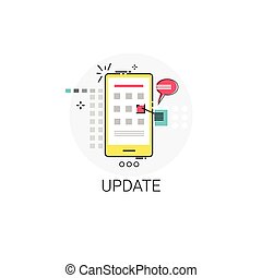 Update New Apps Cell Smart Phone Icon