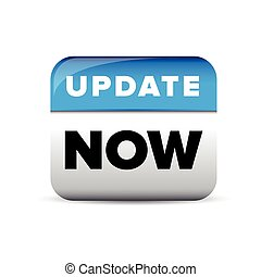 Update now button blue vector
