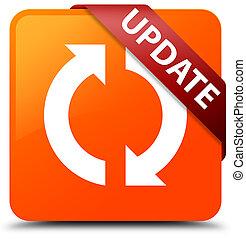 Update orange square button red ribbon in corner