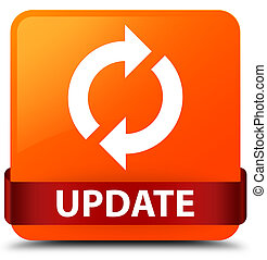 Update orange square button red ribbon in middle