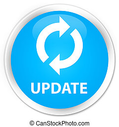 Update premium cyan blue round button