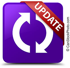 Update purple square button red ribbon in corner