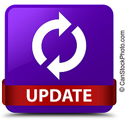 Update purple square button red ribbon in middle