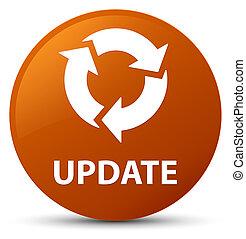 Update (refresh icon) brown round button