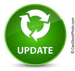 Update (refresh icon) elegant green round button