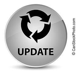 Update (refresh icon) elegant white round button