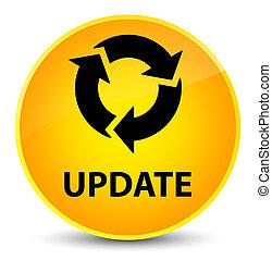 Update (refresh icon) elegant yellow round button
