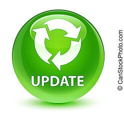 Update (refresh icon) glassy green round button