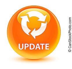 Update (refresh icon) glassy orange round button