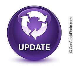 Update (refresh icon) glassy purple round button