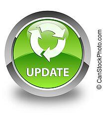 Update (refresh icon) glossy green round button