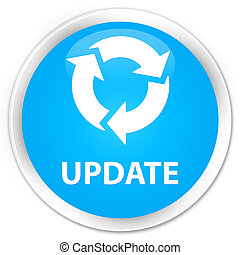 Update (refresh icon) premium cyan blue round button