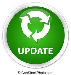Update (refresh icon) premium green round button