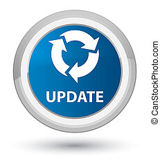 Update (refresh icon) prime blue round button
